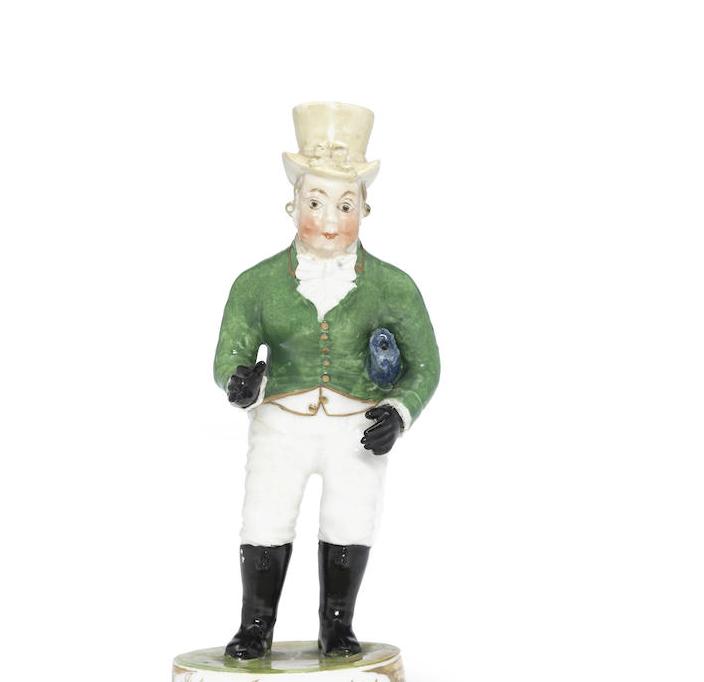 A Rockingham figure of John Liston as Paul Pry