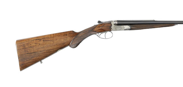 A 9x57mm boxlock ejector rifle by Jules Bury retailed by Hess Van Zweeden, no. 1661