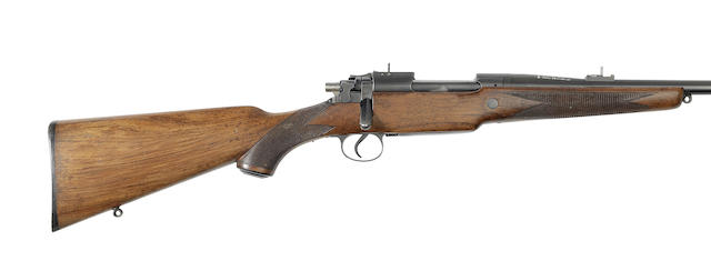 A .26(Belted Rimless N.E.) 'Model 1923' sporting rifle by B.S.A, no. 6