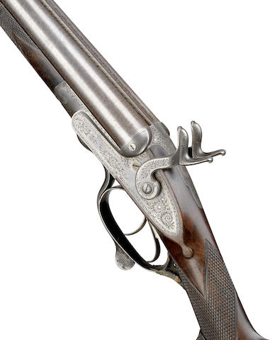 A rare F. H. Grey patent 16-bore sidelock hammer gun by William Moore & Grey