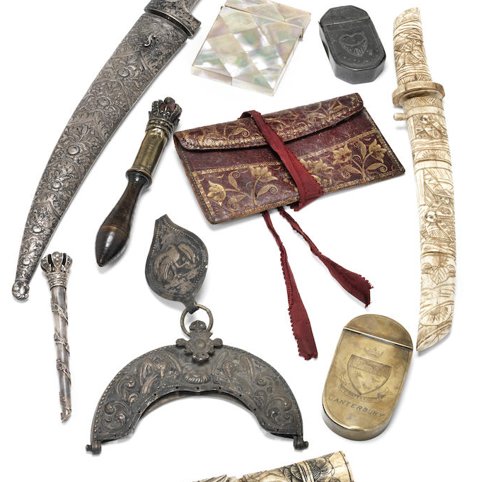 A Group Of Daggers, Curiosities And Other Items