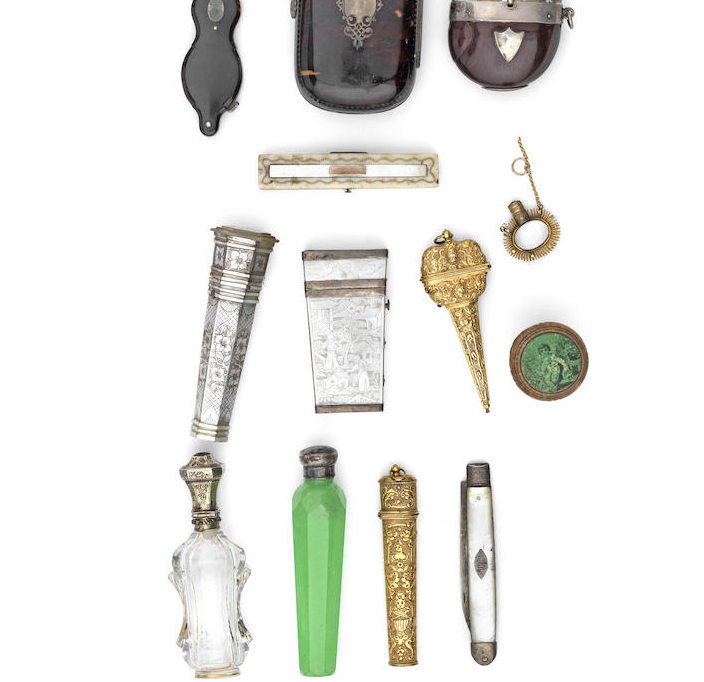 A collection of 19th century objects of vertu