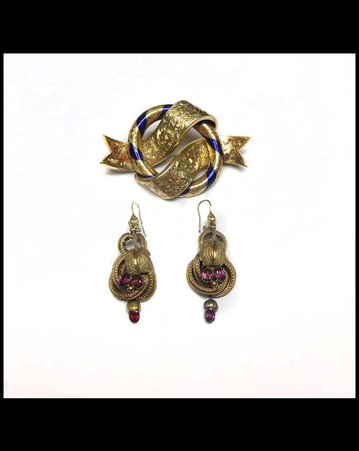 A Victorian enamel brooch