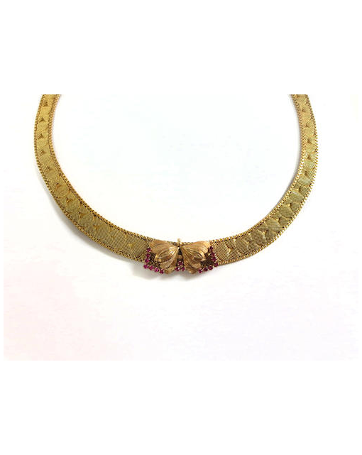 An 18ct gold collar