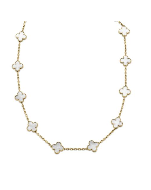 A mother-of-pearl 'Alhambra' necklace