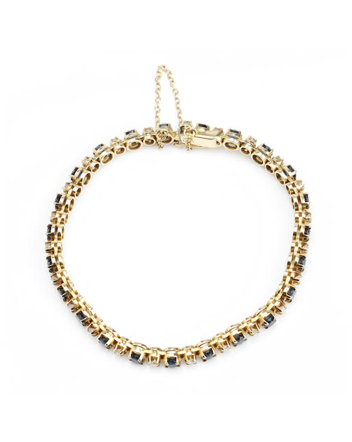 An 18ct gold, sapphire and diamond bracelet