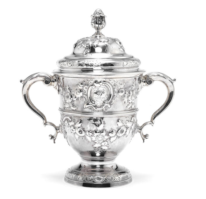 A George II silver two-handled cup and cover
