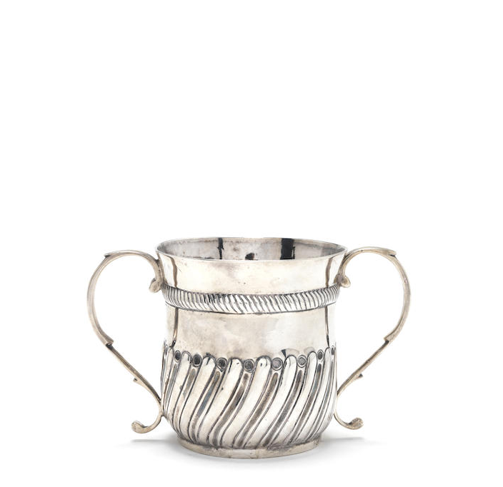 A George I silver two-handled porringer