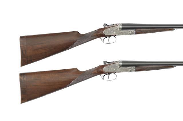 A pair of 12-bore 'No. 2' sidelock ejector guns by Aguirre & Aranzabal, no. 536943/4