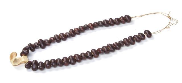 Hook Pendant Necklace, Hawaiian Islands
