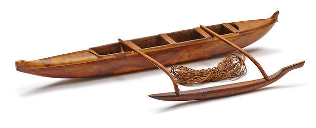 Model Canoe, Hawaiian Islands