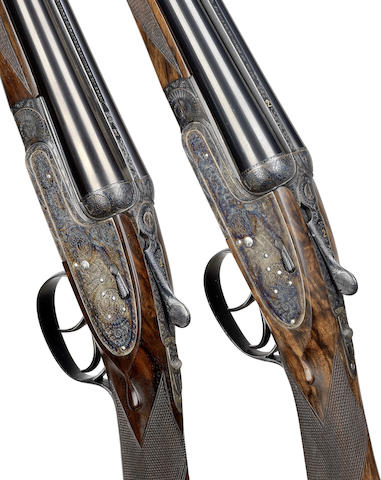 A fine pair of 20-bore 'No. 1' sidelock ejector guns by Aguirre & Aranzabal, no. 549217/8