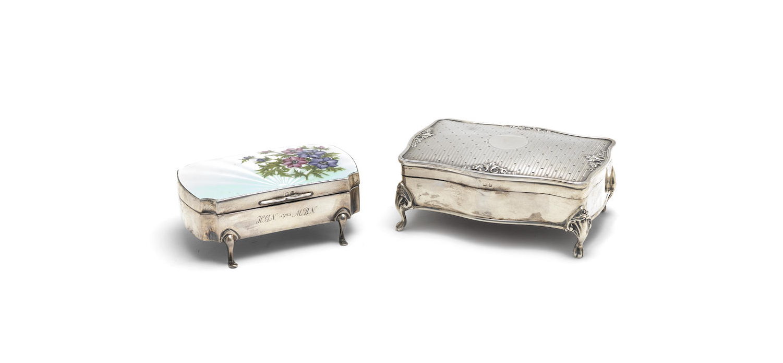 A silver jewellery box