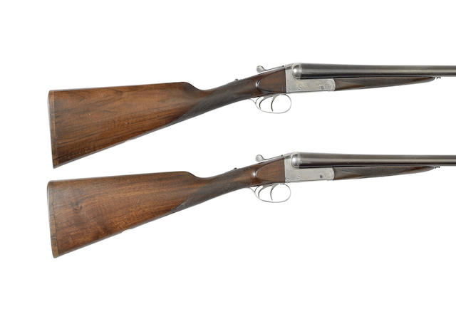 A pair of 12-bore boxlock ejector guns, Shot and regulated by Holland & Holland, no. 34285/6