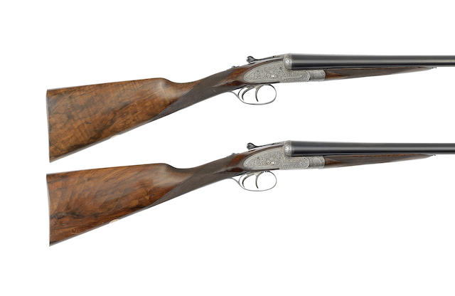 A pair of 12-bore sidelock ejector guns By William Evans, no. 10996/7
