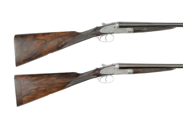 A pair of 12-bore sidelock ejector gun by Henry Atkin, no. 1977/8