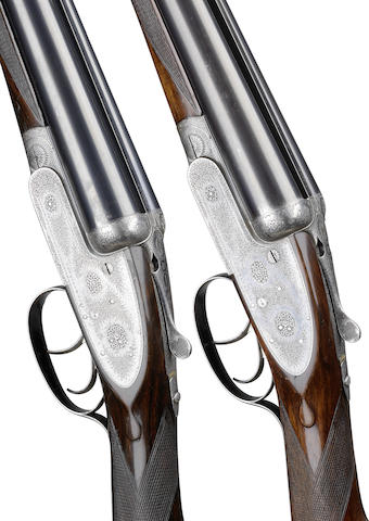 A pair of 12-bore self-opening sidelock ejector guns by J. Purdey, no. 18430/1