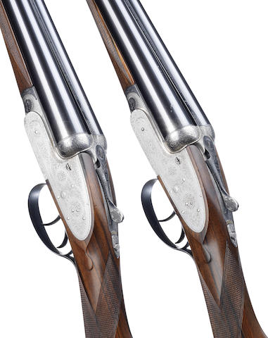 A pair of 12-bore self-opening sidelock ejector guns by J. Purdey & Sons, no. 15773/4