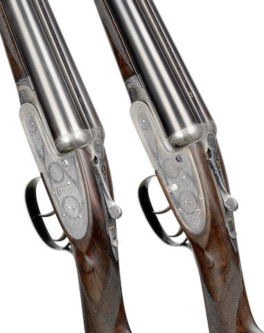 A fine pair of 12-bore self-opening sidelock ejector guns by J. Purdey & Sons, no. 25584/5