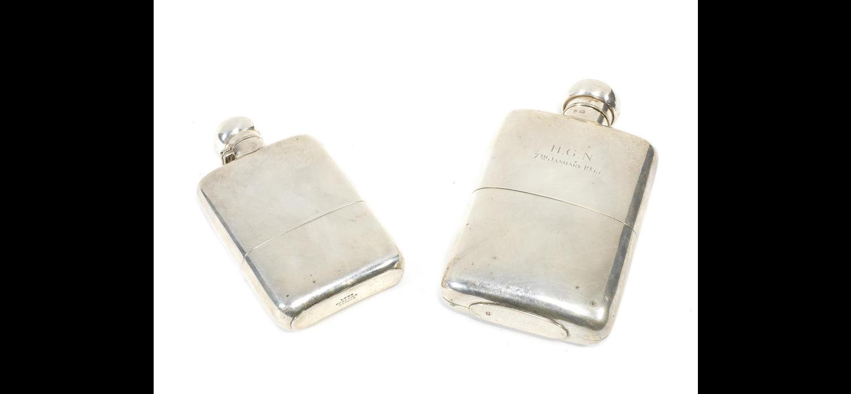 A Victorian silver hip flask