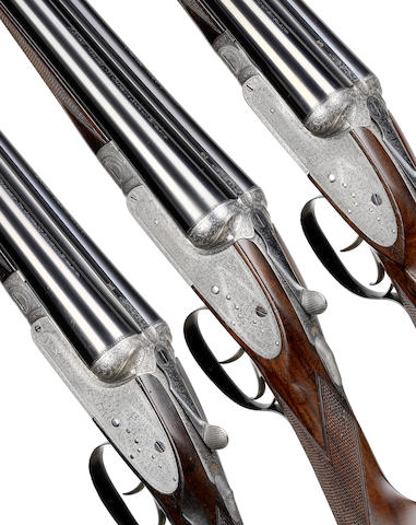 A trio of 12-bore sidelock ejector guns by Stephen Grant & Sons, no. 6669/70/71