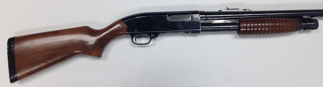A 12-bore 'Model 120' pump-action gun by Winchester, no. L1963166