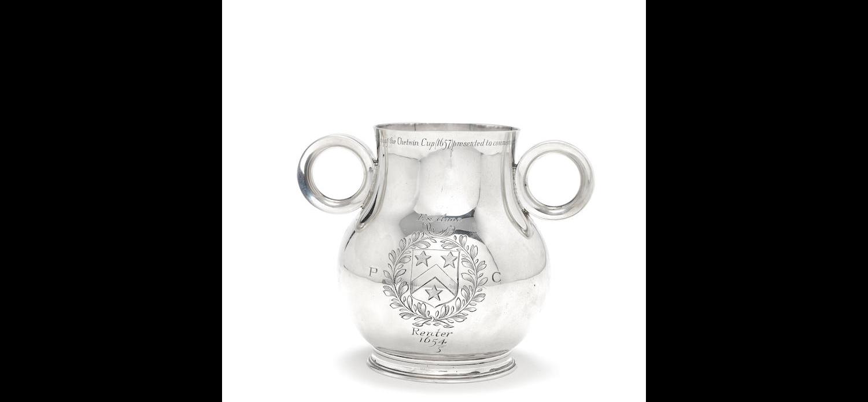 A silver ox-eye cup