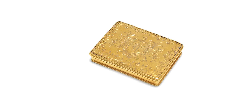 A George I gold snuff box