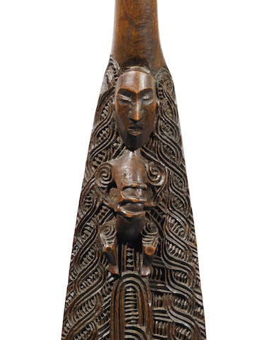 Important and Rare Maori Paddle, New Zealand by the master carver Anaha Te Rahui (1821-1913)