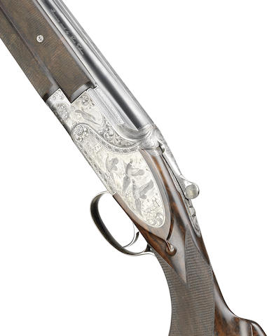 A Capece-engraved 12-bore single-trigger side-plated over-and-under ejector gun by Louis Tilman, no. 29177