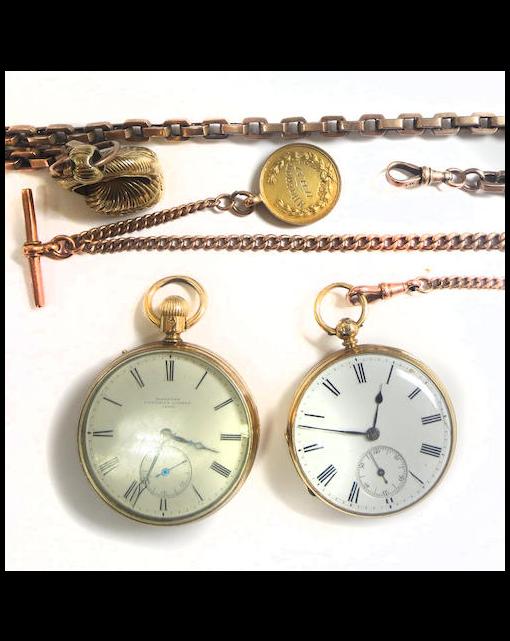 An 18ct gold open-faced pocket watch