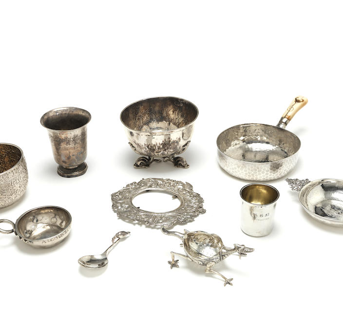 A collection of foreign silver