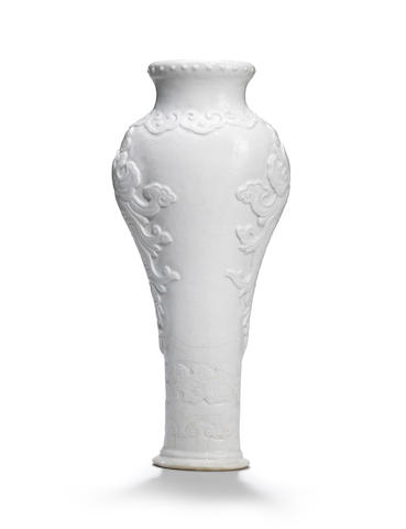 A rare soft-paste white-glazed vase