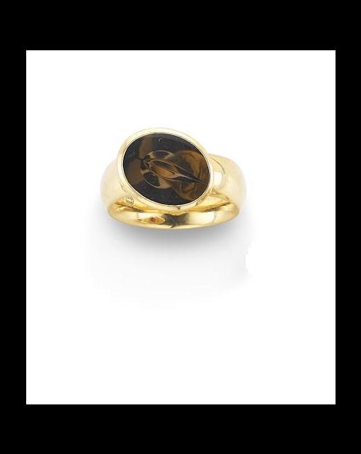 A 'Nordic Summer' smokey quartz ring