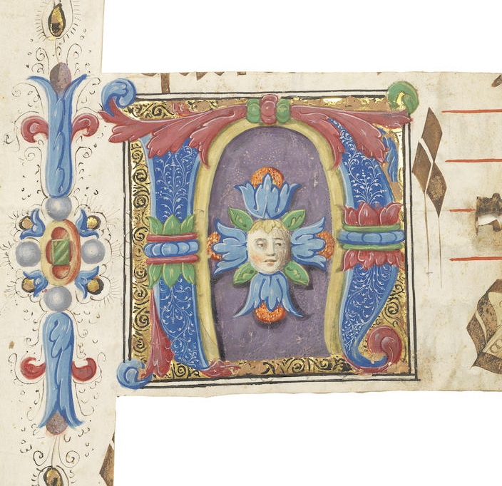 Album containing 18 historiated initials cut from illuminated manuscripts