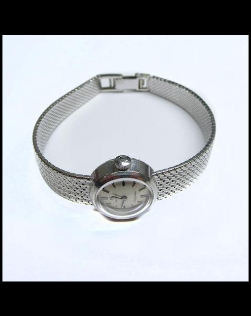 A lady's 18ct white gold 'Ladymatic' wristwatch