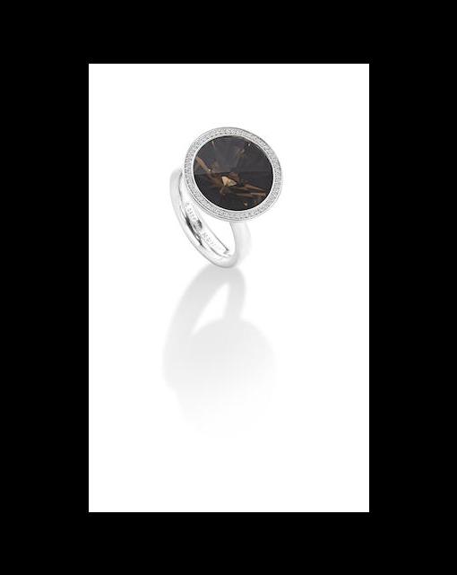 A 'Magnuovo' smokey quartz and diamond ring