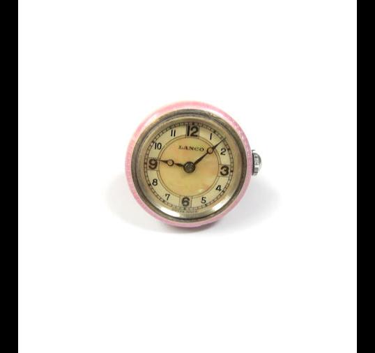 A lady's enamel pendant fob watch