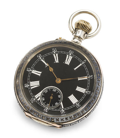 Swiss. A fine silver and enamel pocket watch made for Hong Kong market