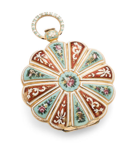 Le Roy. A fine gold and enamel key wind open face pocket watch made for the Turkish market