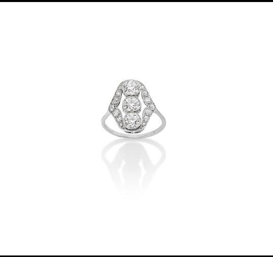 A Belle Epoque diamond dress ring