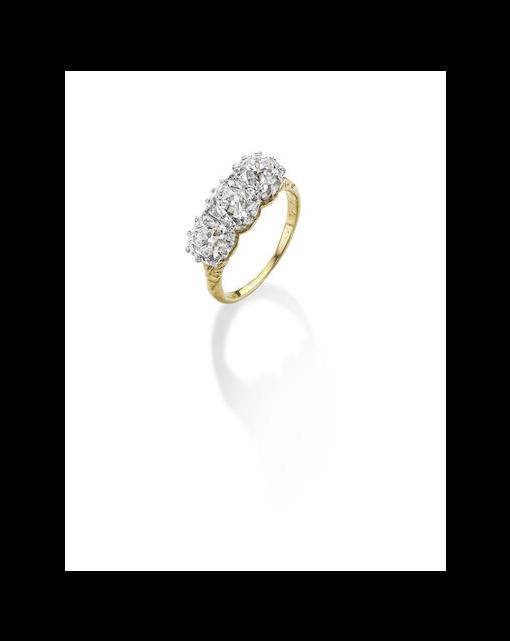 A Victorian diamond three-stone ring