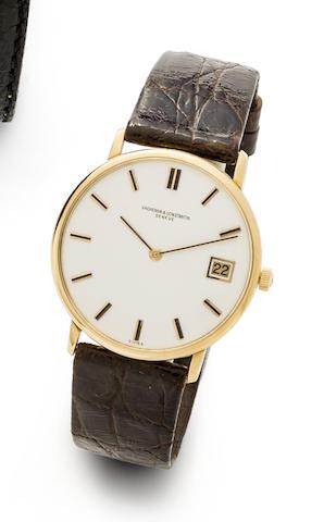Vacheron Constantin. An 18K gold automatic calendar wristwatch