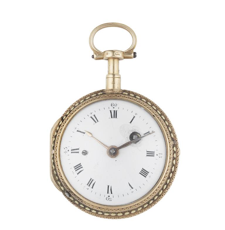 Vaucher, Paris. An 18th century triple colour gold open face repeating verge watch