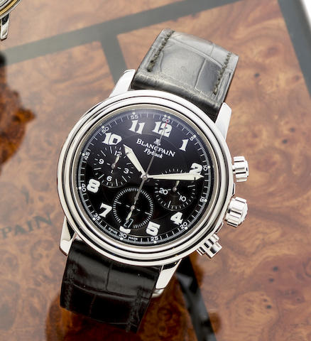 Blancpain. A stainless steel automatic calendar flyback chronograph wristwatch
