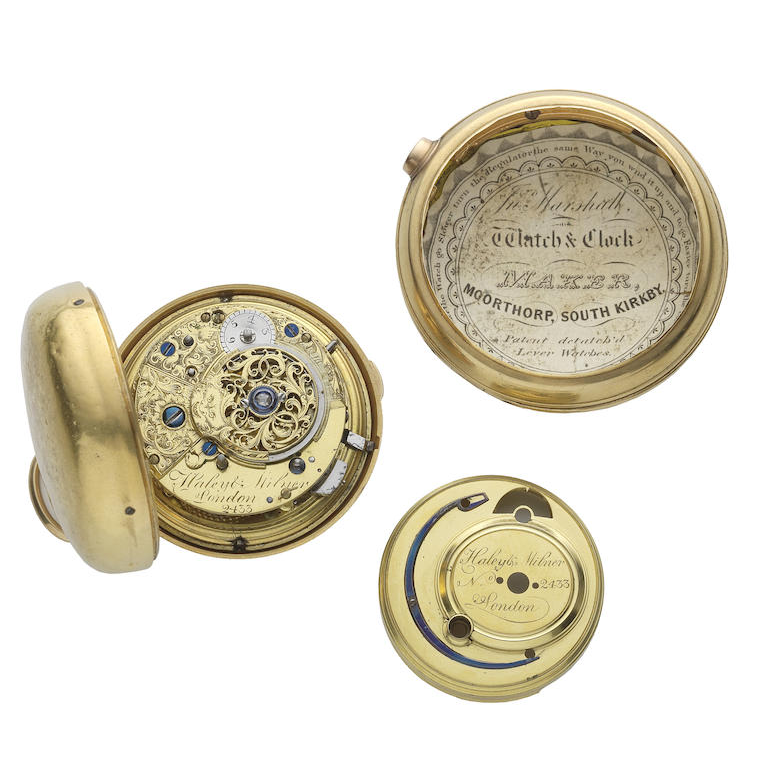 An 18th century gold pair case repeating pocket watch