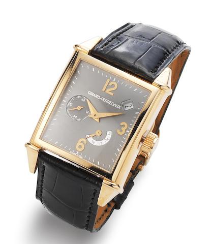Girard Perregaux. An 18K rose gold automatic calendar wristwatch