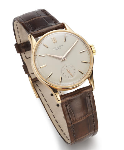Patek Philippe. An 18K rose gold manual wind wristwatch with extract from the archives