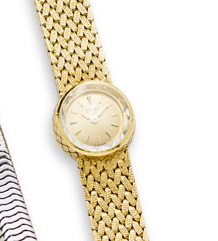 Piaget. A lady's 18K gold manual wind bracelet watch