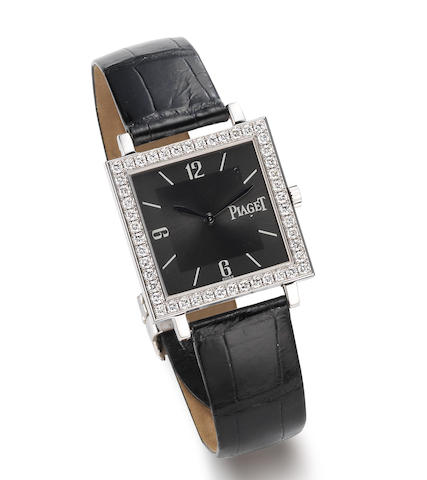 Piaget. An 18K White Gold and Diamond Set manual wind Wristwatch.